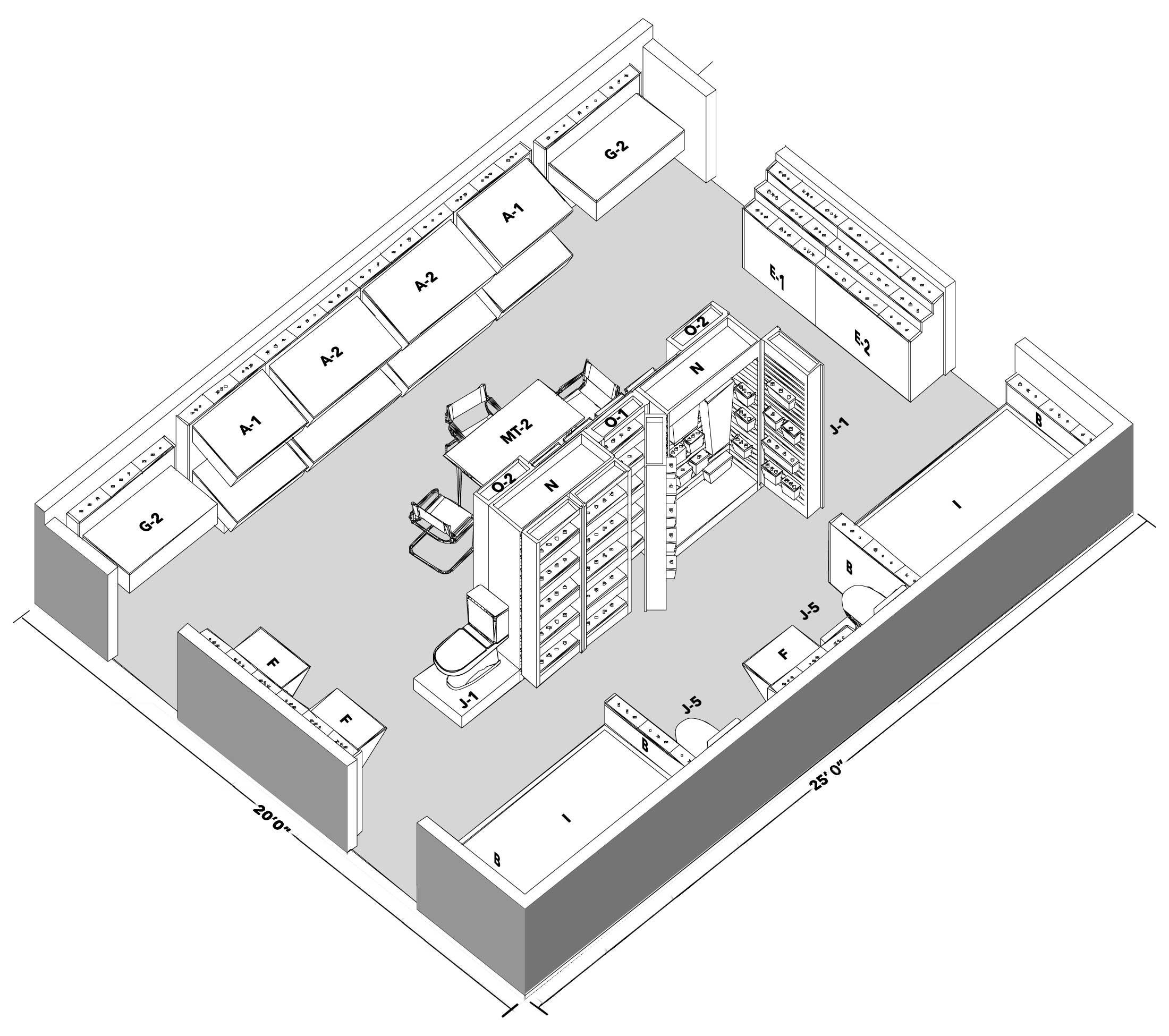 Show Room Layout Design